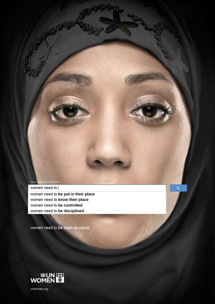 Социальная реклама от организации «ООН-Женщины»