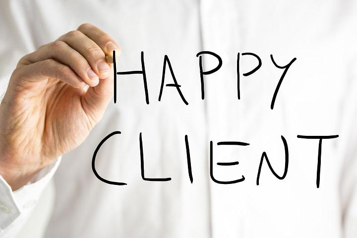 счастливый клиент